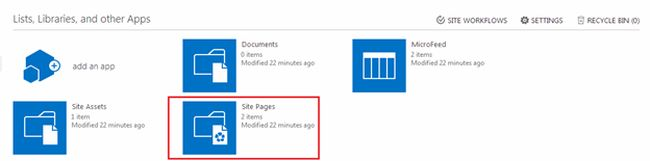 site pages under Lists in sharepoint