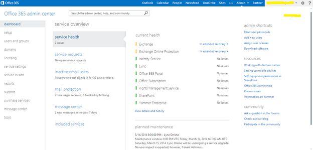 Office 365 Admin Server