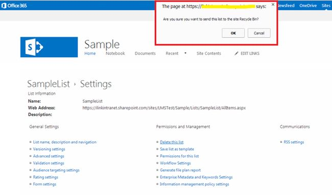 confirmation pop up page in sharepoint