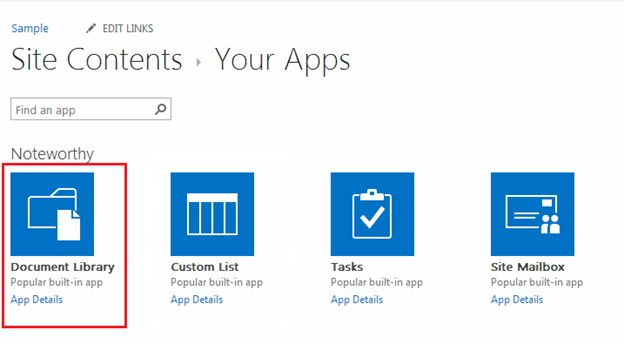 Create document library in sharepoint 2013 online for Sharepoint 2013 document library template