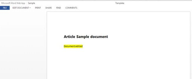 updated sharepoint document