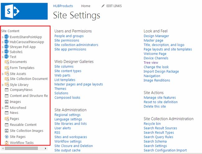 get tree view in sharepoint