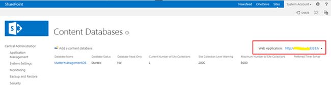 contact database in sharepoint