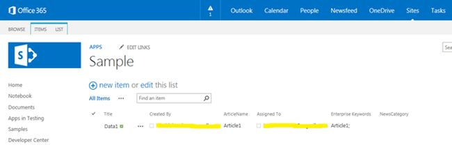 list on your SharePoint site