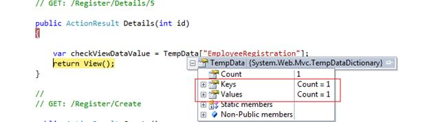 TempData using Breakpoint