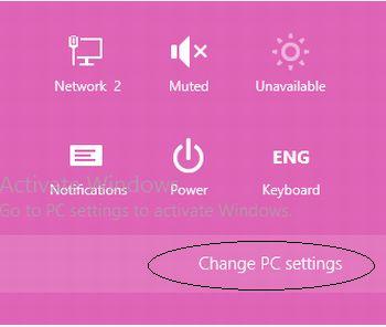 how to change printer settings windows 8