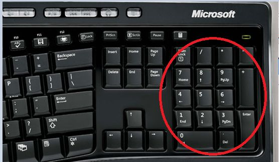 Num+Lock+Key ... Numlock is ON then the numbers will be sent when you ...