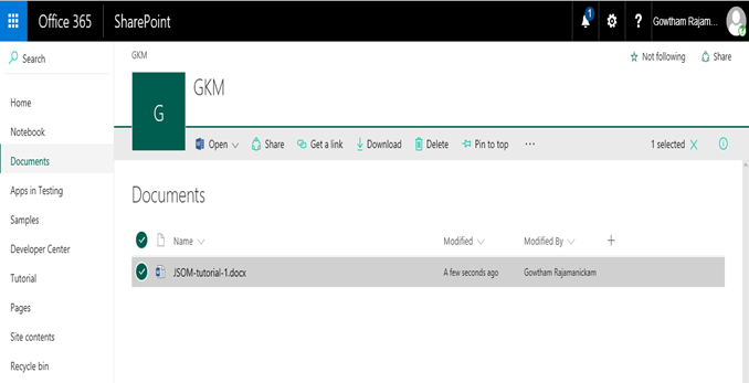 O365 Create Alerts For SharePoint Documents Using OOTB Alert Me
