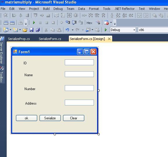 Serialization -DeSerialization of Windows Form in C#