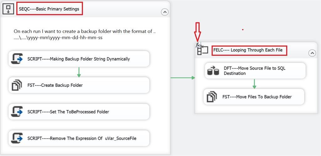 Looping Through Flat Files Using SSIS 2016