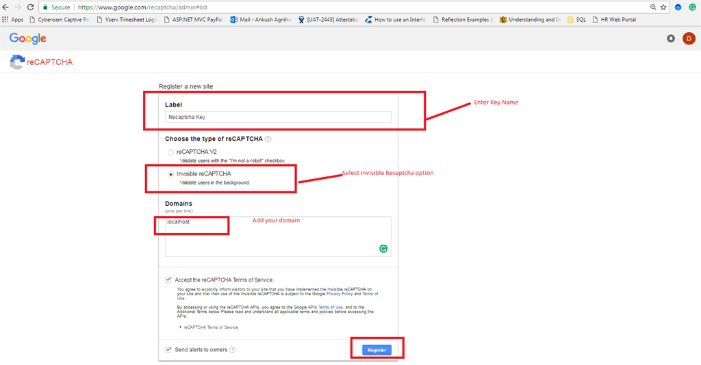 Google Invisible Re-Captcha In ASP NET C#