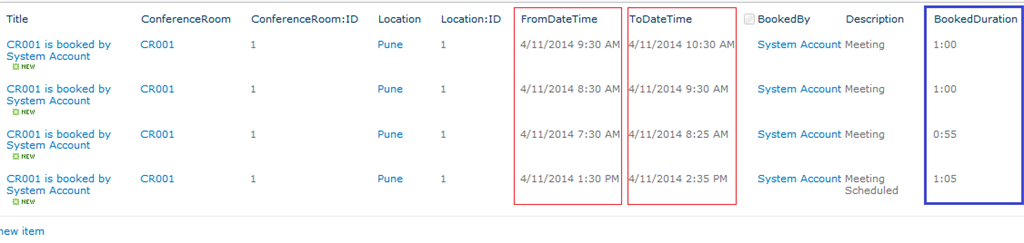 SharePoint 2016 Calculated column to display duration between two dates in Hour-Minute