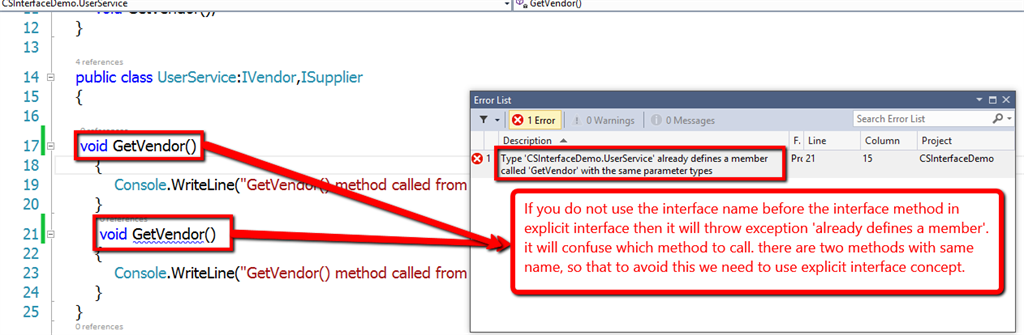 Interface In C# With Example