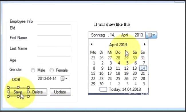How to Use DateTime Picker and Save in Database in Window Form