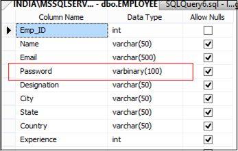 Encrypt and Decrypt Column Value In SQL Server Table