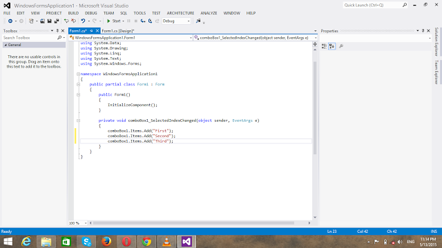 Use Of Comboboxes In C Sharp on Latest Javascript Write To Console