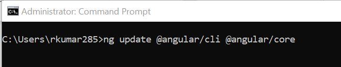 Upgrade Angular 8 To Angular 9