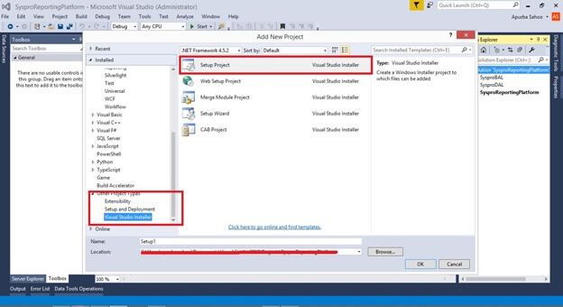 How To Create A Setup File In VS 2015