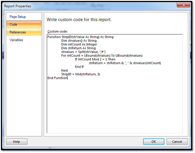 How To Remove Special Characters In SSRS Report Builder By Writing Some Custom Code