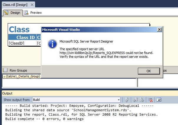 "Fix the issue ""The specified report server URL could not be"
