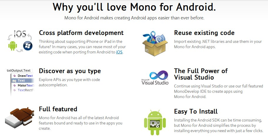 Writing Android Apps with C# and .Net