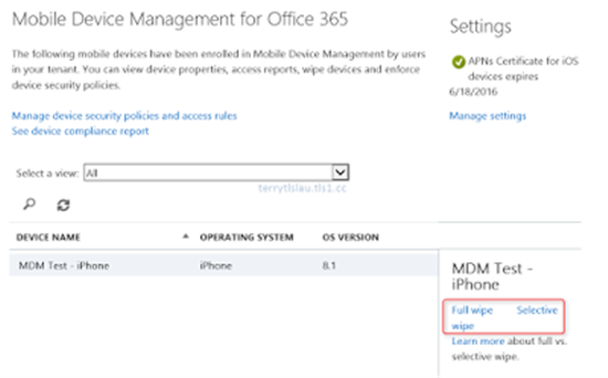 Scenarios of mobile device management mdm on office 365 - Office for mobile devices ...