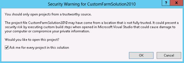 security warning dialog