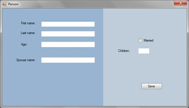 Windows Form Application Design Template In C