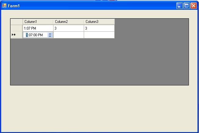Custom Time Cell In Datagridview