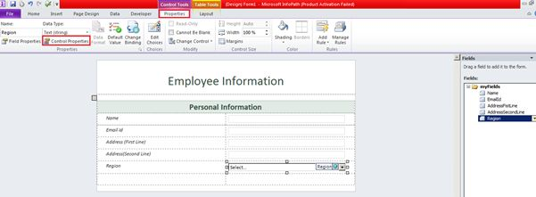 Bind InfoPath 2010 Dropdown List With SharePoint 2010 List