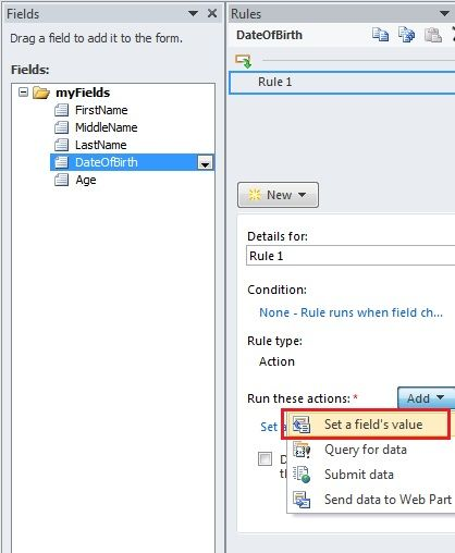 infopath 2013 tutorial sharepoint: Calculate Age in Year in InfoPath Form in SharePoint 2010