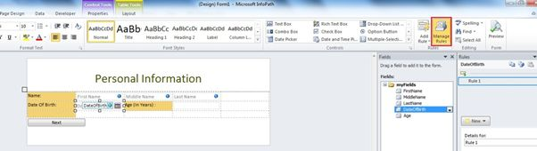 infopath 2013 tutorial sharepoint Calculate Age in Year in InfoPath Form in SharePoint 2010