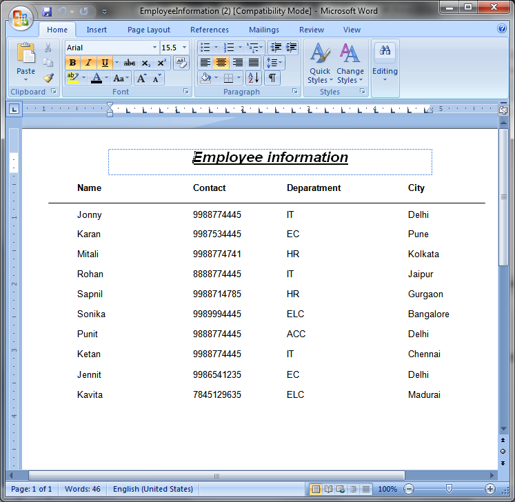 how to create crystal report in excel format