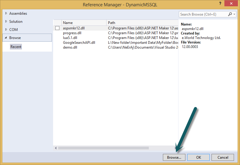 Dynamic Connection String of MS SQL Database in C#