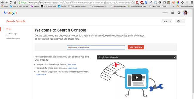 use google webmaster in wordpress website