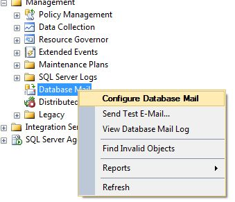 Configure Database Mail in SQL