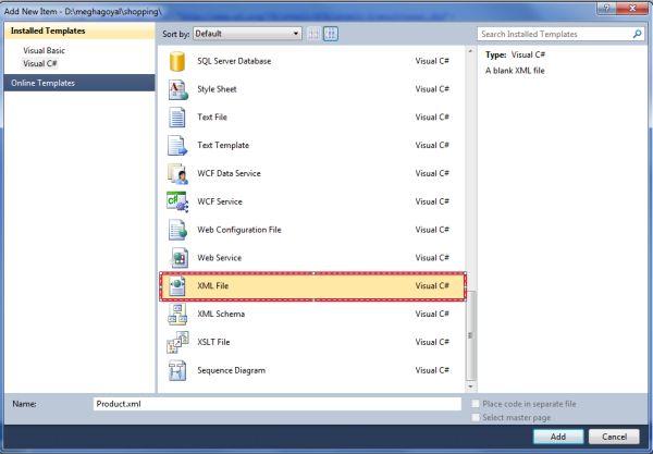Binding XML Data to a WebForm Control in ASP.Net