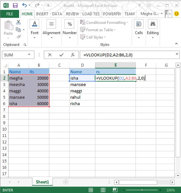 Lookup a number in a cell excel