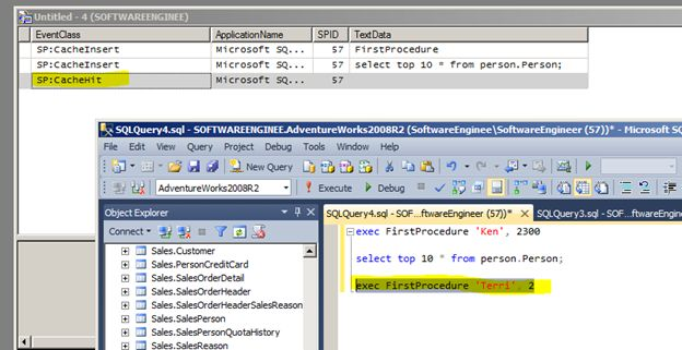 how to call a stored procedure with parameters in c