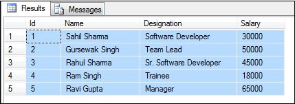 How to Display the Rupee Symbol With Employee Salary in ASP Net GridView