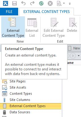 External Content Type
