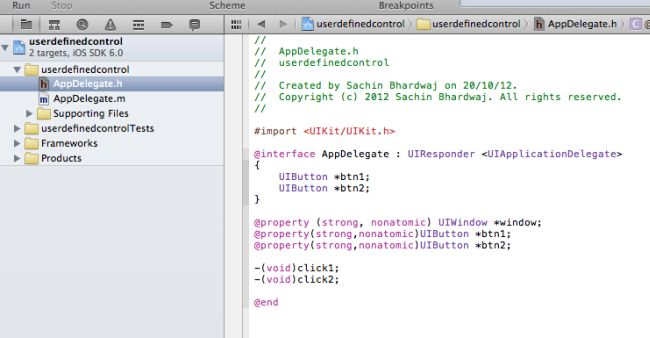 code-of-appdelegate.h-in-iPhone.jpg