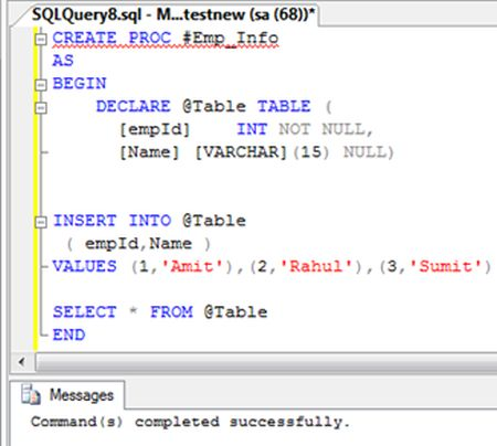 Msbi Useful Posts Copy Paste Temporary Stored Procedures In Sql