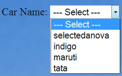 php how to get select option name