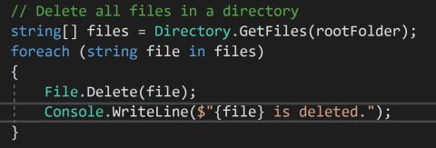 How to Delete a File in C#