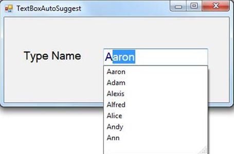 Autosuggest TextBox From Database Column in Windows Forms