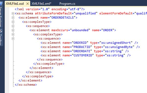 Creating XSD of a XML Using Visual Studio