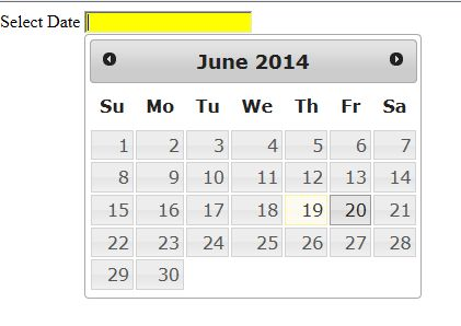 Datetime Control Using jQuery