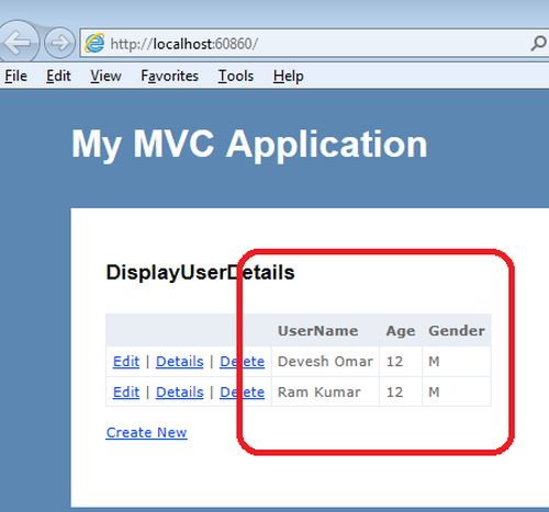 Simple Way To Bind List Of Objects To View Using MVC