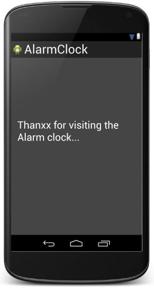 Simple Alarm Application in Android Studio